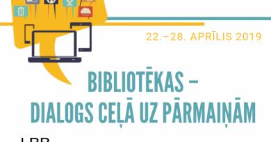 Bibliotēku nedēļas pasākumi Talsos